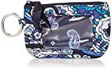 Vera Bradley Women's Wallet Signature Cotton Zip ID Case, Deep Night Paisley, One Size