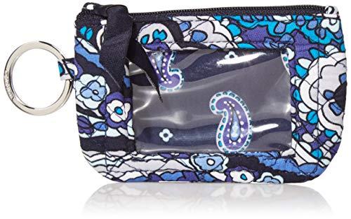 Vera Bradley Women's Signature Cotton Zip ID Case Wallet, Deep Night Paisley, One Size