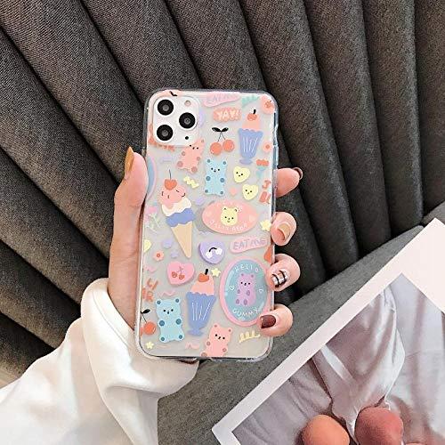 Bär ist geeignet für 11ProXSMax iPhone Hülle transparent (kaufen Sie zwei und erhalten Sie eine gratis)-iPhone11pro Eisbär