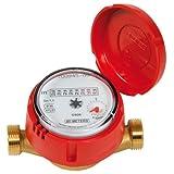 Sferaco - Compteur d'eau - Compteur divisionnaire eau chaude 3/4' Mâle-Mâle