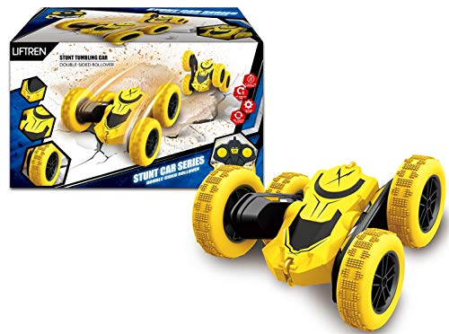 Remote Control Car RC Cars Stunt Car Toy - 360°Double Sided Rotating Vehicles Toys 2.4Ghz 4WD Off Road - Kids Toy Cars Christmas Birthday Gifts for Boys & Girls