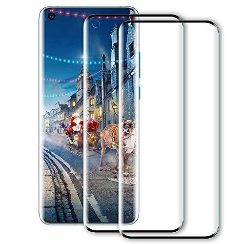 BESTSUIT For Oneplus 8 Pro Screen Protector [2 Pack], Oneplus 8 Pro Glass Screen protector, 3D Curved, Support Fingerprint Sensor, 9H Hardness, Easy Installation, Tempered Glass for Oneplus 8 Pro