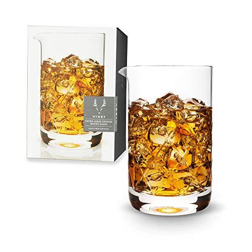 Viski Professional Stemmed Mixing Glass, 6432, Crystal Glass-27 oz