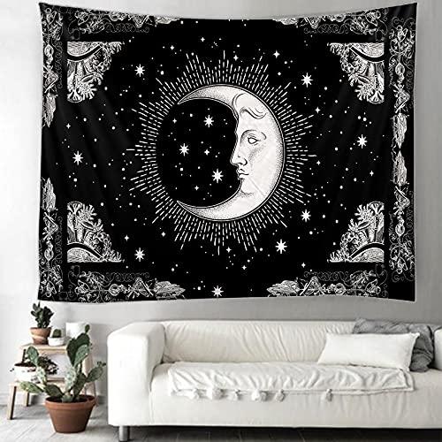 Sonne Mond Tapisserie Mandala Tapisserie Hippie Spitze Tapisserie Böhmische Dekoration Dekoration Wohnheim Hängendes Tuch A4 150x200cm