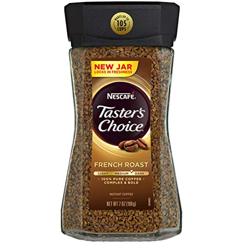 Nescafe Taster#039s Choice French Roast Instant Coffee 7Ounce  Canisters Pack of 3