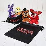 Toy 4pcs/Set Five Nights at Freddy FNAF Fox Bear Bonnie Plush Pendants Keychains Dolls (5