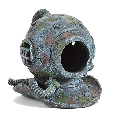 Pet Ting Discovered Divers Helmet Ornament - Large Fish Tank Decoration