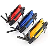 TOPLINE 25-Piece Folding Hex Key Set, SAE, Metric, Torx Allen Wrench Set Included, Folding Design for Portable, 3 Pack Allen Key for Basic Home Repair and General Applications
