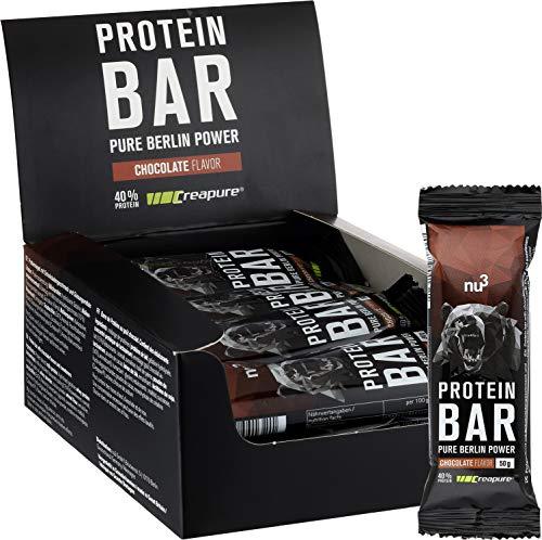 nu3 Barres Protéinées au Chocolat - 12 x 50g - Barres contenant 40% de Protéines de lait - 20g de Protéines par barre - Saveur Chocolat – Parfait pour la prise ou le maintien de masse musculaire