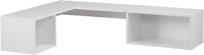 Southern Enterprises Corner Wall White Desk National uniform free shipping Mount Superior