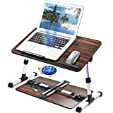 Adjustable Laptop Stand Desk for Bed, Foldable Computer Table [Large Size] Tiltable Notebook Tray...