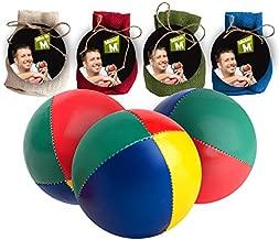 "Mister M ✓ 3 Juggling Balls ✓ Plus an Online Video ✓ in a Burlap Bag ✓ ""The Ultimate Juggling Set (Beige, 3)"