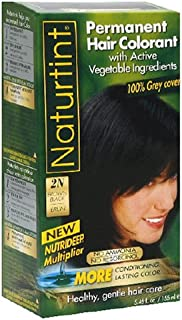 Naturtint Hair Colorant, Permanent, 2N Brown Black, 5.98-Ounces (Pack of 2)