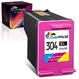 ColoWorld Remanufacturado 304 XL Tricolor Cartuchos de tinta para HP 304 XL 304XL para HP Envy 5010 5020 5030 5055 Deskjet 2600 2620 2622 2630 2633 3720 3735 3750 3755 3764 AMP 100 120 130 Impresoras