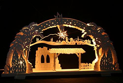 3D Schwibbogen Stern von Bethlehem Leerbogen zum selbstbestücken für Krippe Christi Geburt - Handarbeit Erzgebirge