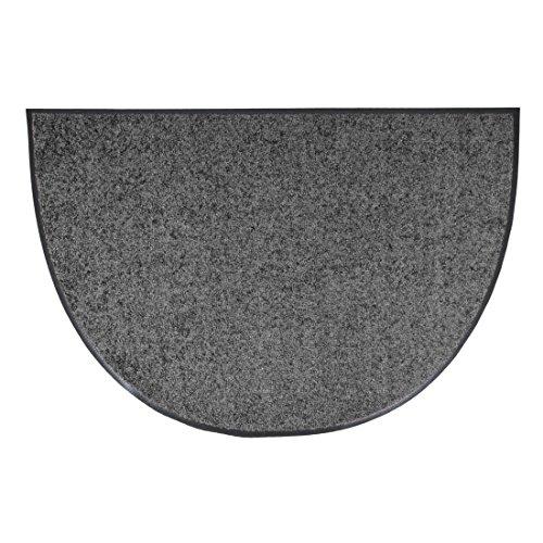 Efia halfronde Salonloewe deurmat wasbaar 50 x 75 cm antislip 50 x 75 cm antraciet