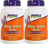 Now Foods Aloe Vera, 100 softgels 2 pack