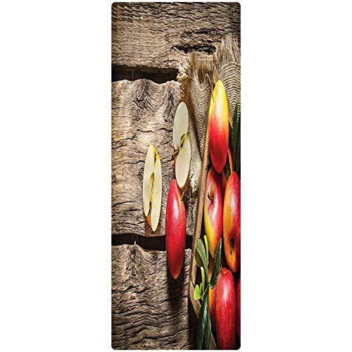 Fruits Runner Rug, 2'x3', Organic Nutrition Vitamin Room Floor Mat Doormat Entrance Rug for Kitchen/Tub/Living Room
