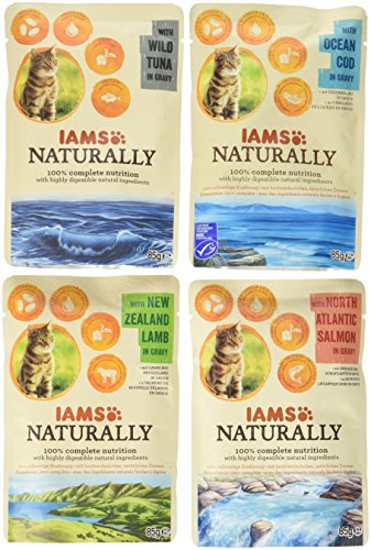 Iams Naturally Katze Land und Sea Collection Multibox groß, 1000 g