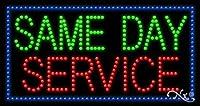 17x32x1 インチ Same Day Service アニメーション点滅 LED ウィンドウサイン
