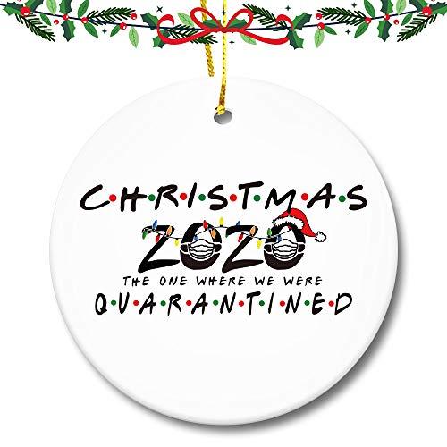 LYLEE Christmas Ornament Kit, Quarantine Survivor Personalized Name 2020 Christmas Ornament, Family of 2 Customized Christmas Decorating Set Holiday Creative Decorating GiftDistancing