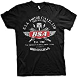 BSA Motorcycles Spark Plugs T-Shirt Graphic Top Printed tee Shirt for MensBlackS