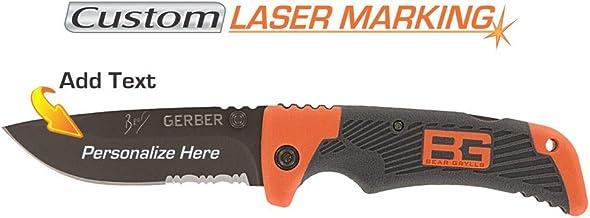 GERBER Custom Laser Engraved Bear Grylls Scout Knife 31-000754