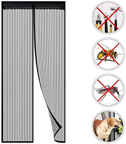 Mosquitera Puerta Magnetica, Mosquiteras Magneticas 100x210cm, Cortina Mosquitera Magnética para Puertas, Sin Taladrar, Apagado Automático, Adecuado para Cocina, Sala de Estar, Dormitorio.