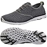 ALEADER Men's Stylish Quick Drying Water Shoes Gray 9 D(M) US