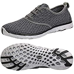 top 10 aleader shoe company ALEADER Men's Stylish Quick Dry Water Shoes, Gray 10.5 D (M) US
