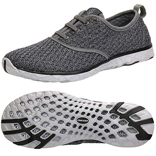 ALEADER Men's Stylish Quick Drying Water Shoes Gray 11 D(M) US