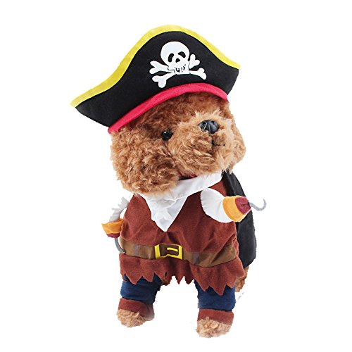 DELIFUR Pet Dog Costume Pirates of The Caribbean Style Cat Costumes