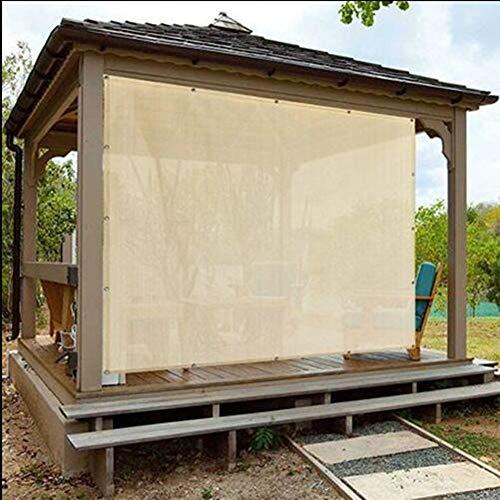 Zeltplanen CJC Sonnensegel Sonnenschutz Terrassendach, Beige Rechteck HDPE Durchlässiges Tuch Mit Tüllen, 90% Sunblock & UV-beständig (Color : Beige, Size : 4x6m)