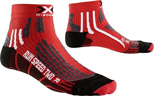 X-Socks hombre X Run Speed Calcetín 2 unidades, otoño/invierno, hombre, color rojo, negro, tamaño 42-44