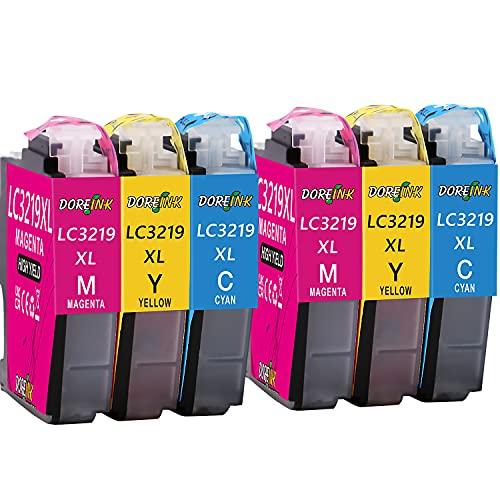 DOREINK LC3219XL Farbe Patronen Ersatz für Brother LC3219 LC3217 Druckerpatronen Kompatibel mit Brother MFC-J5330DW MFC-J5335DW MFC-J5730DW MFC-J6930DW MFC-J6935DW MFC-J6530DW (2Cyan,2Gelb,2Magenta)