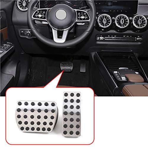 2 pedales de freno de gas de acero inoxidable para Benz A B GLB Clase W177 W247 X247 2019 2020 accesorios