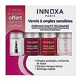 INNOXA - Coffrets les Mini's 3 Vernis à Ongles + 1 Top Coat - Indispensables - Vegan sauf Vernis Incolore - Made in France - Vernis Couleur Intense et Longue Tenue - Ongles Sensibles