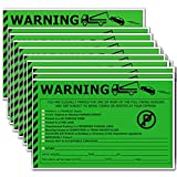 Parking Violation Stickers -'You are Illegally Parked' Warning Stickers Reserved,Handicapped,Private Parking and More No Parking,Hard to Remove and Super Sticky Tow Warnings Labels 50pcs 5'X 8'