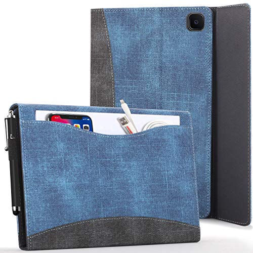 Forefront Cases Funda para Samsung Galaxy Tab A7 10.4 - Galaxy Tab A7 Case Stand with Document Pocket - Azul Real - Auto Sueño Estela Función, Samsung Galaxy Tab A7 10.4 pulgadas 2020 Funda Case Cover
