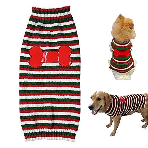 Gestreiften Pullover Sweatshirt Haustiermantel Hunde Kleidung Cotton Flannelette Mantel Hoodie Jumpsuit Jacken für Große Hunde Haustier Winter XXL Büste 60-70cm
