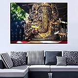 AQgyuh Puzzle 1000 Piezas Cuadro Moderno del Arte del Dios Elefante Indio Puzzle 1000 Piezas clementoni Gran Ocio vacacional, Juegos interactivos familiares50x75cm(20x30inch)
