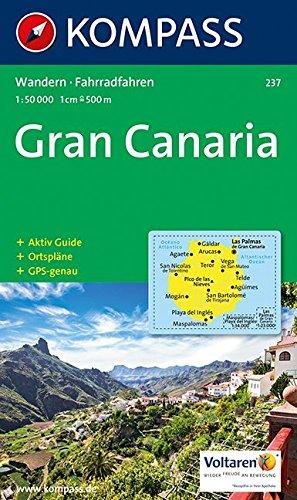 Kompass Karten, Gran Canaria (KOMPASS-Wanderkarten, Band 237)