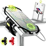 Bone Collection Support de téléphone et de batterie externe (non inclus), Support de téléphone compatible avec Face ID, montage sur POTENCE de vélo, Écran de smartphone de 4' à 6,5', Poids ultra léger