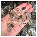 LAANYMEI Piedra Mineral cristalina 100 g de Cristales ásperos crudos Naturales de 100 g de Piedras Preciosas Sueltas de Cuarzo Diamante