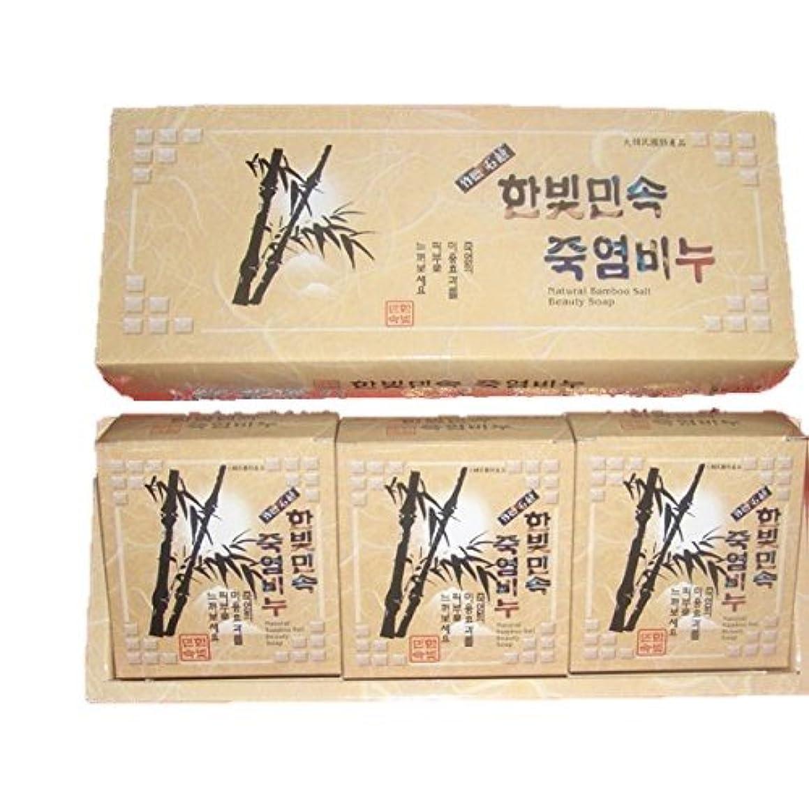 投獄タイヤ控える(韓国ブランド) 竹塩石鹸 (3個×3セット)