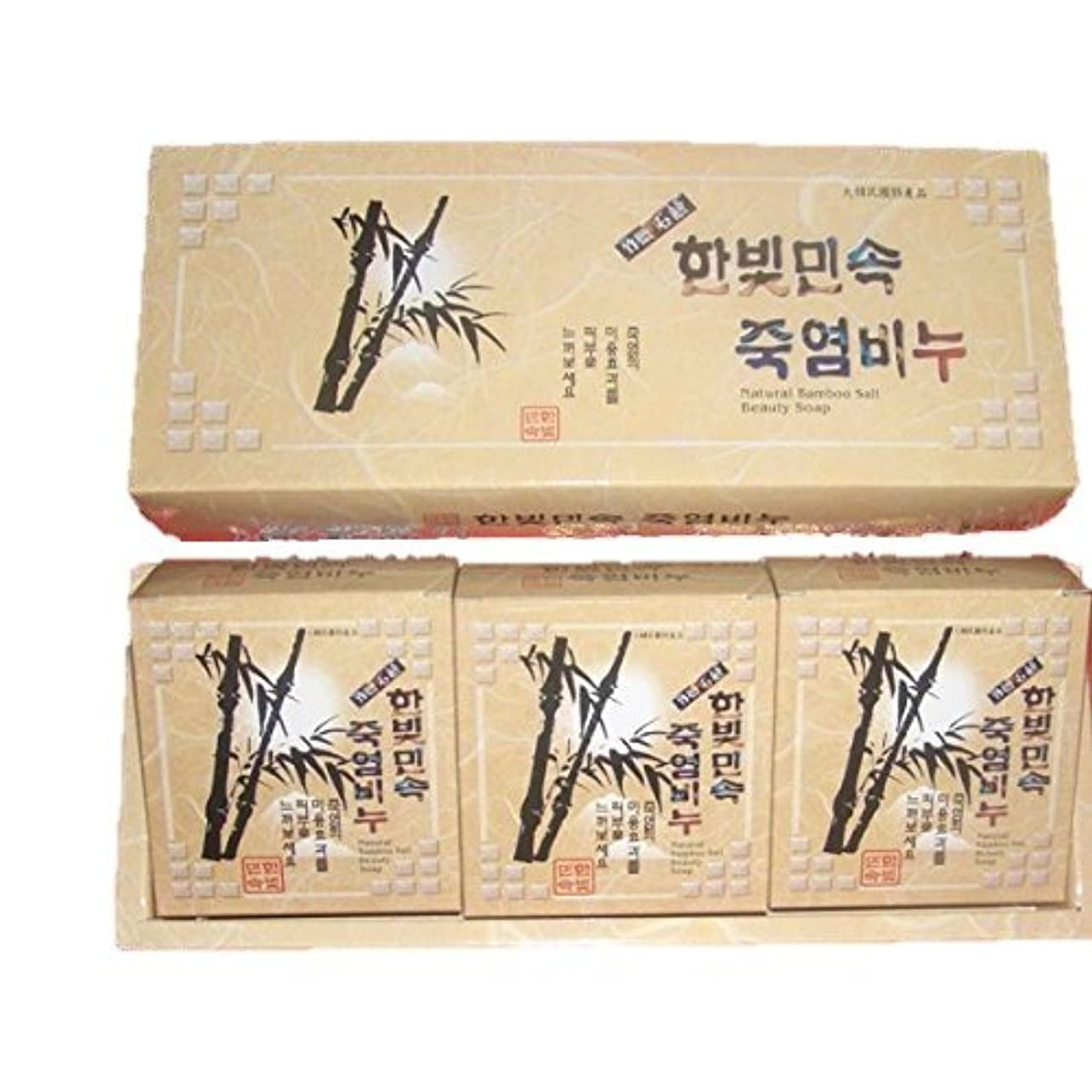 明るい蒸留する南極(韓国ブランド) 竹塩石鹸 (3個×3セット)