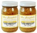 Mrs. Campbell's Vidalia Onion Sweet Relish, 16 Oz Glass Jar (Pack of 2)