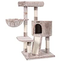 WHO'LL HAVE A GOOD MOOD? Your cat! All because this cat tree is covered with plush with long hairs for extra softness. And you too! Because the hairs are well attached and won't spread around the house YES, HE'S GONE UPSTAIRS! With a multi-level, sta...