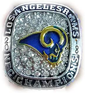 Twcuy 2018 Los Angeles Rams NFC Football Replica Championship Ring for Fans Men's Gift Size 11