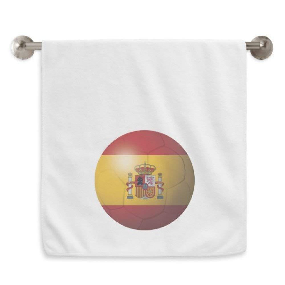 DIYthinker España Fútbol Nacional Fútbol de Bandera Blanca Circlet Toallas Toalla Suave paño de 13X29 Pulgadas 13 x 29 Pulgadas Blanco: Amazon.es: Hogar
